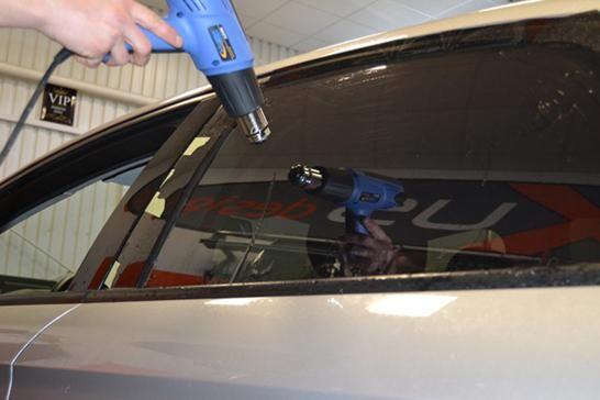 Autófólia telepítése lépésről lépésre - hőlégfúvó alkalmazása